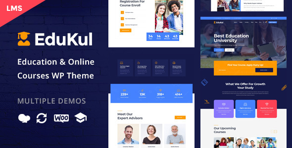 Edukul | Online Courses WordPress Theme