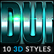 10 3D Styles vol. 26 - GraphicRiver Item for Sale