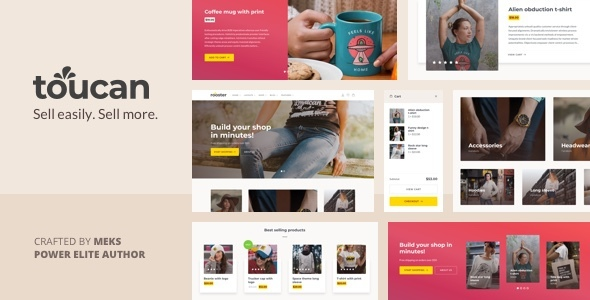 Toucan – WooCommerce theme for WordPress shop Preview