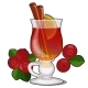 Glass Transparent Glass with Cranberry Drink - GraphicRiver Item for Sale