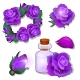 A Set of Items and Cosmetics on the Theme of Roses - GraphicRiver Item for Sale