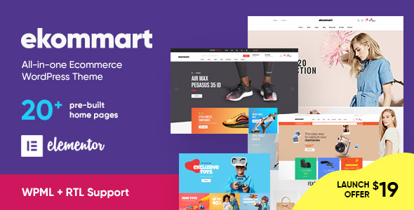 ekommart – All-in-one eCommerce WordPress Theme Preview