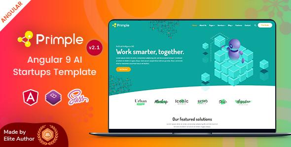 Primple - Angular 9 AI Startups Template