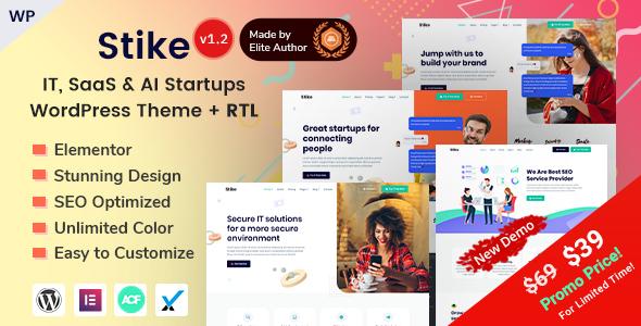 Stike - IT Startups WordPress Theme