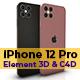 iPhone 13 Pro, iPhone 12 Pro Element 3D & C4D - 3DOcean Item for Sale