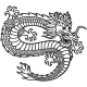 Emblem with the Image of a Flying Chinese Dragon - GraphicRiver Item for Sale