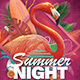 Flamingo Summer Party Flyer - GraphicRiver Item for Sale
