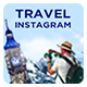 Travel Instagram Post Templates - 05 Designs - GraphicRiver Item for Sale