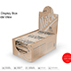 20 Kraft Snack Bars Display Box Mockup Half Side View - GraphicRiver Item for Sale