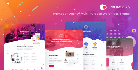 PromoSys - Promotion Services Multi-Purpose WordPress Theme