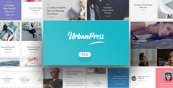 UrbanPress - Multi-Purpose PSD Template