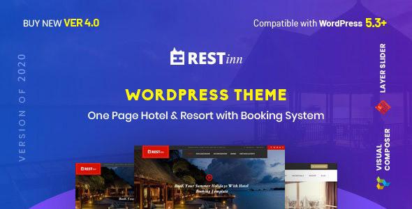 Restinn- Resort and Hotel Booking System WordPress Theme