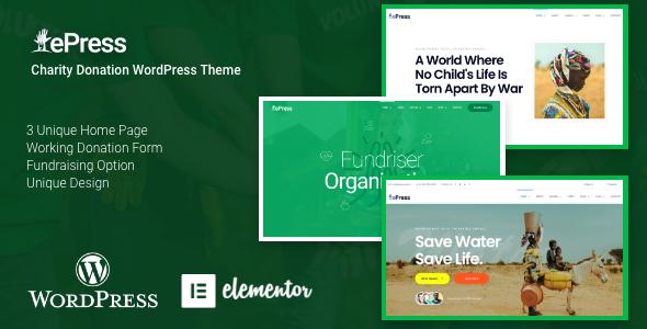 ePress – Nonprofit Charity Theme Preview