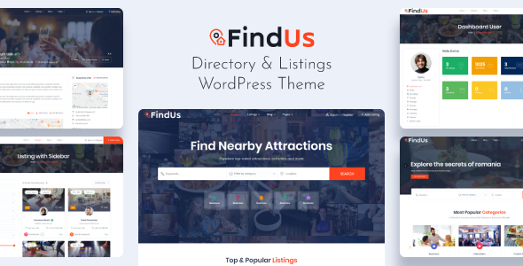 Findus – Directory Listing WordPress Theme Preview
