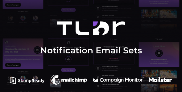 TLDR - Notification Email Sets + Animated Icons