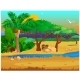 Picturesque Landscape with a Coconut Palm Tree - GraphicRiver Item for Sale
