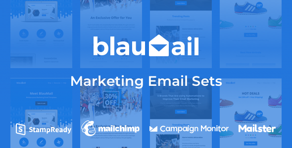 Blaumail - Marketing Email Sets + Notification Pack
