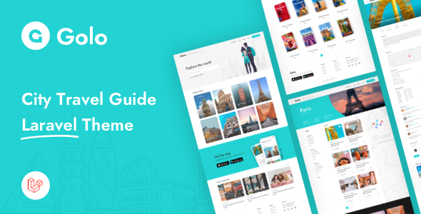 Golo - City Travel Guide Laravel Theme Download