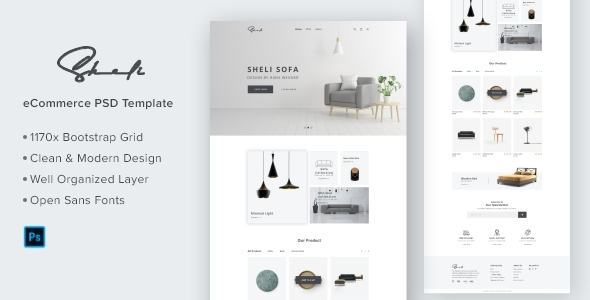 Sheli-Furniture e-Commerce Website Template Design