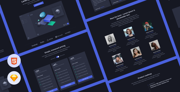 Cube - HTML Landing Page Template for Startups
