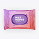 Wet Wipes Mockup. Top view - GraphicRiver Item for Sale