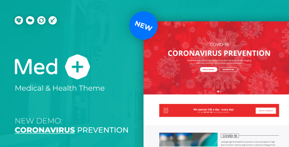 MedPlus – Coronavirus Prevention WordPress Theme