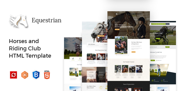 Equestrian - Horses and Riding Club HTML Template