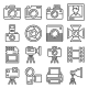 Camera and Photography Equipment Icons Set - GraphicRiver Item for Sale