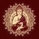 Vintage Vector Illustration of Meditating Buddha - GraphicRiver Item for Sale