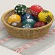 Easter eggs and basket - 3DOcean Item for Sale