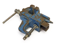 Blue Steel Vise On White Background - PhotoDune Item for Sale