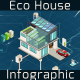 Energy Efficient Eco House Infographic - VideoHive Item for Sale
