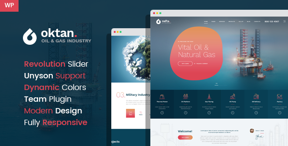Oktan – Oil & Gas Industry WordPress Theme