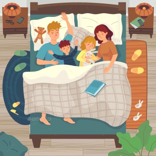 Children Sleep in Parents Bed Co-sleeping