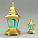 Ramadan lantern 3D Model Element 3D & Cinema 4D - 3DOcean Item for Sale