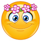 Flower Head Wreath Emoticon - GraphicRiver Item for Sale