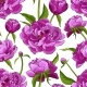 Pink Peonies Seamless Abstract Flower Pattern - GraphicRiver Item for Sale