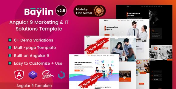 Baylin - Angular 9 Marketing & IT Solutions Template