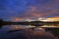 Ominous Sunset Cloudcape over a River - PhotoDune Item for Sale
