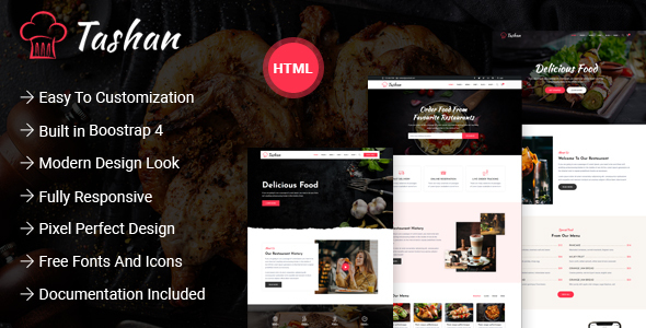 Tashan - Restaurant and Cafe HTML Template