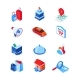 Vacation and Traveling - Modern Isometric Icons - GraphicRiver Item for Sale