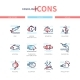 Fish Species - Modern Line Design Style Icons Set - GraphicRiver Item for Sale