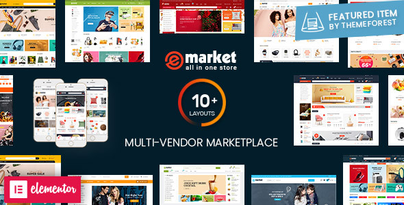 eMarket - Multi Vendor MarketPlace WordPress Theme (10+ Homepages & 2 Mobile Layouts Ready)