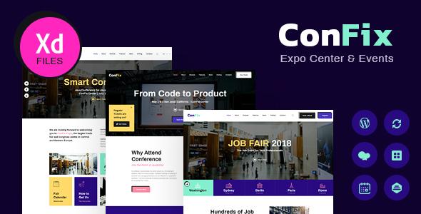 ConFix – Expo & Events WordPress Theme Preview