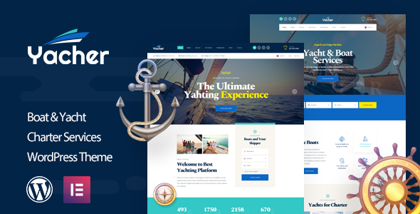 Yacher - Yacht Charter Services WordPress Theme