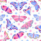 Pattern with Butterflies and Moths - GraphicRiver Item for Sale