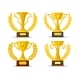 Winner Cups with Laurel Wreaths - GraphicRiver Item for Sale