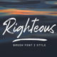 Righteous Handwritten Typeface Brush - GraphicRiver Item for Sale