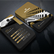 Vertical Gold Modern Business Card - GraphicRiver Item for Sale