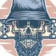 Bearded Skull and Skateboard - GraphicRiver Item for Sale